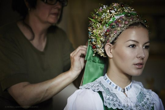 Bridal crown of Myjava, Slovakia (by Petra Lajdova)