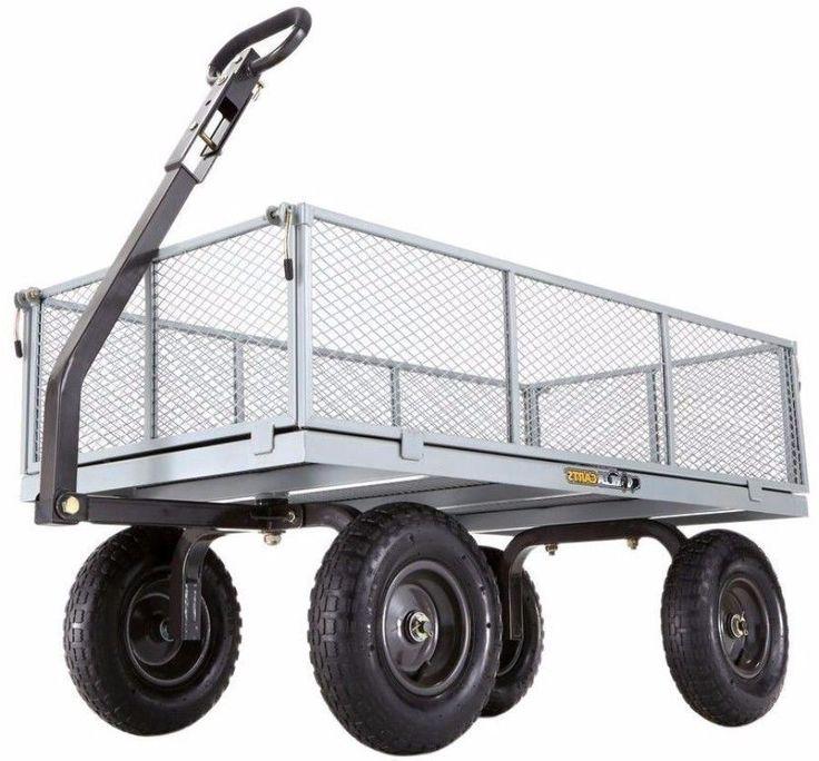 Heavy Duty Steel Utility Yard Cart Durable Outdoor Garden Tool