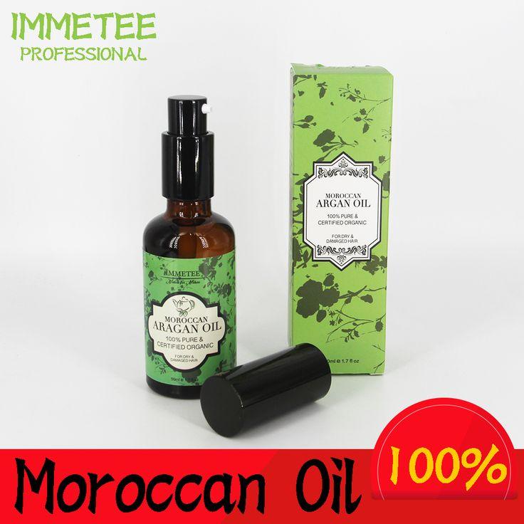 IMMETEE Marokkaanse Pure Arganolie Haarverzorging 50 ml Haar Olie Behandeling Voor Droog Haar Types Haar & Hoofdhuid Behandeling