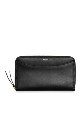 Skagen Black Radio Frequency Identification Compact Zip Wallet