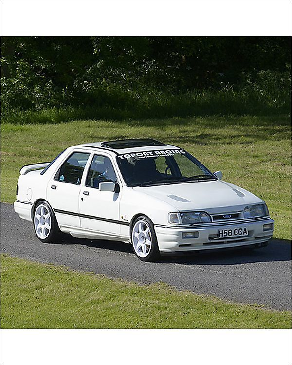Photograph Ford Sierra Sapphire Cosworth 1990 White 10 X8 Photo Print Expertly Made In The Usa In 2020 Ford