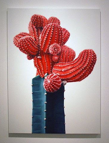 kwangho lee is a korean artist who is responsible for this stunning cactus painting.