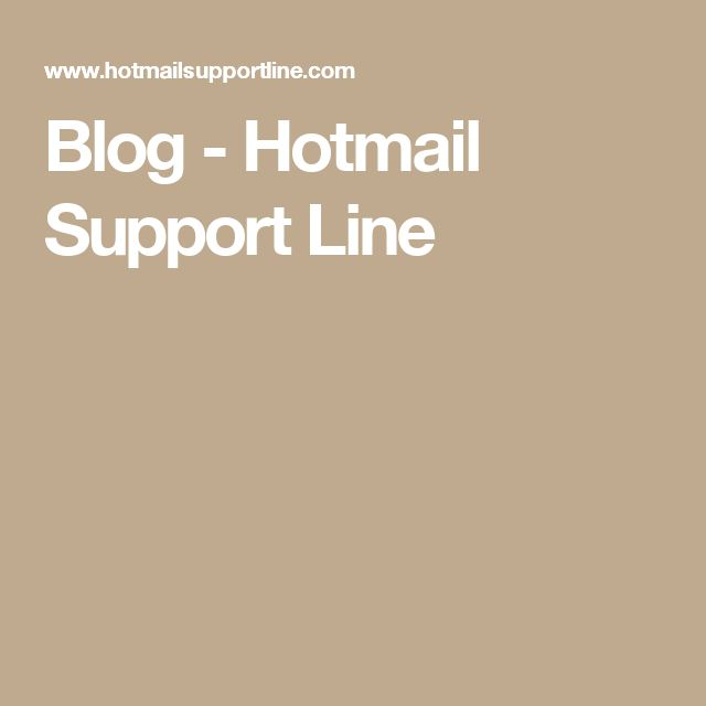 Blog - Hotmail Support Line