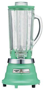 Waring Pro 550-Watt Retro Green Food and Beverage Blender - contemporary - blenders and food processors - HPP Enterprises