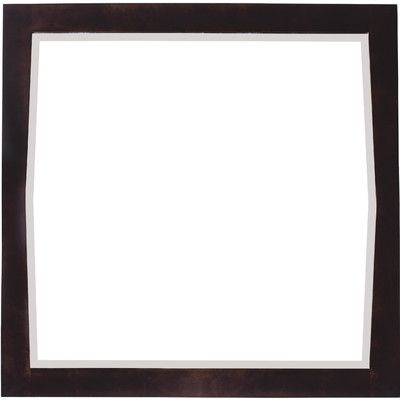 """American Imaginations Antique Walnut Transitional Wall Mirror Size: 34"""" H x 24"""" W x 1"""" D, Finish: Chrome"""