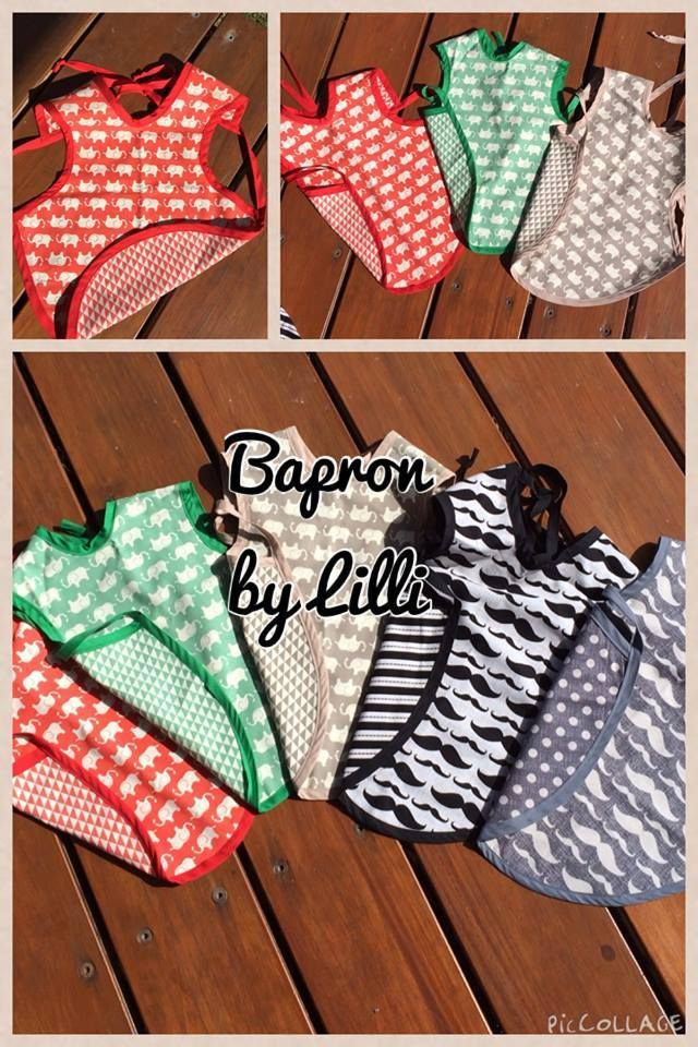 Handmade By Lilli REVERSIBLE Bapron fits 6-12 month old
