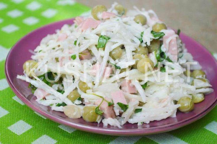Салат из редьки с сыром. Пошаговый рецепт с фото