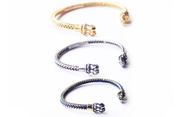 Gold elephant bracelet cuff by OzmaAutonomy on Etsy