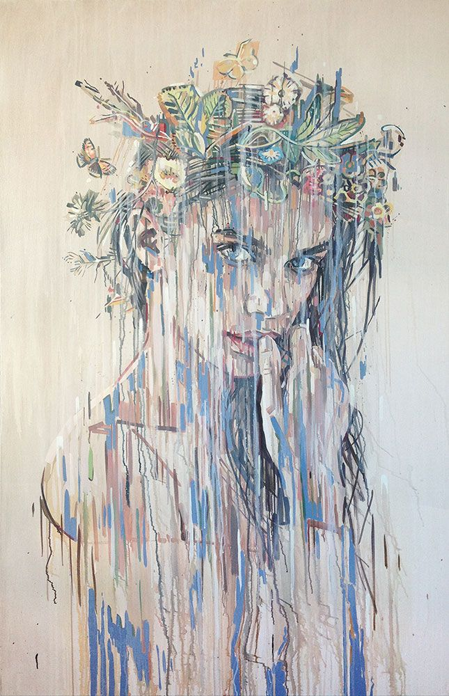 Portrait of Lilah by Chris Denovan 116 x 180cm
