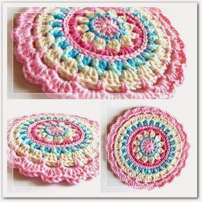 Mandala de primavera. Así se llama esta bonita y sencilla Mandala realizada en bellos tonos pasteles. Excelente idea con múltiples ...