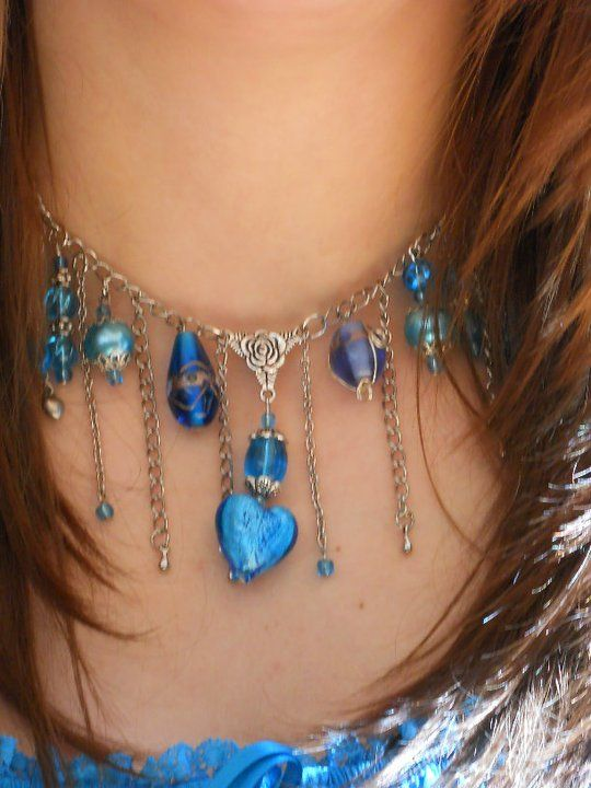 Dangle Beads and chain necklace