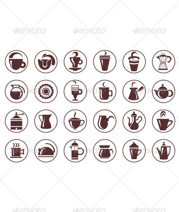 Coffee Symbols ...  background, bakery, beverage, cafe, cappuccino, classic, coffee, cup, drink, elements, emblem, espresso, food, graphic, icon, isolated, label, menu, mug, restaurant, set, sign, sticker, symbol, tag, tea, vector