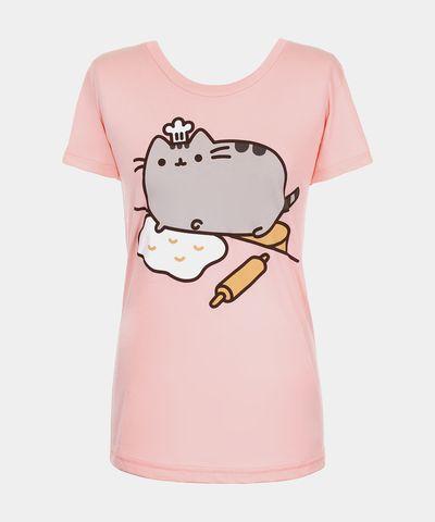 Baker Pusheen T-shirt (womens) - Hey Chickadee