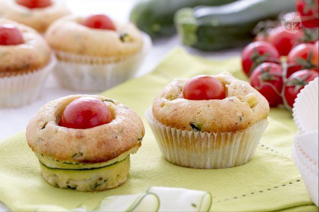 Ricetta Muffin salati con ricotta e zucchine - Le Ricette di GialloZafferano.it