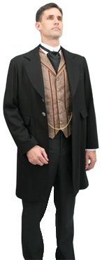 This mens' suit dates from the early 1880's.