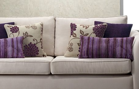 Love these purple cushions from Lorraine Lea Linen