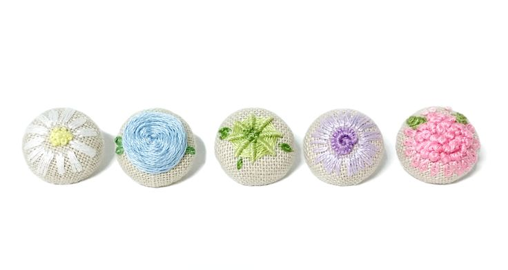 Embroidery Fabric covered buttons