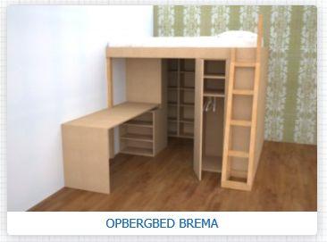 Heerlijk ruim bed met veel opberg ruimte. Dit bedrijf levert in heel Nederland en Belgie aan huis. www.kleinwonen.nl