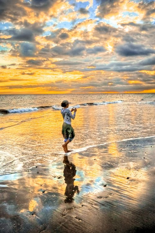 : Beaches, Reflection, Color, Beautiful, Art, Sunrise Sunset, The Beach, Photo, Sunrises Sunsets