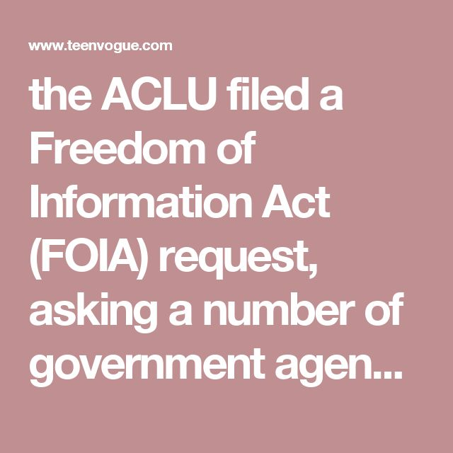 the ACLU filed a Freedom of Information Act (FOIA) request, asking a number of government agencies to turn over all documents relating to President Trump's actual or potential conflicts of interest to his business and family connections. The request includes email and all other communications from these agencies to and from the presidential transition team.