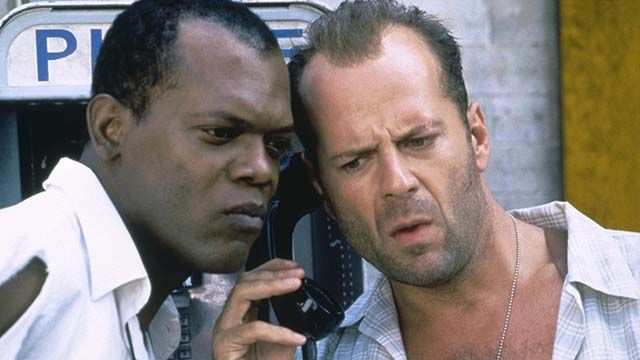 """Samuel L. Jackson as """"Zeus Carter"""" in Die Hard With a Vengeance (1995)"""