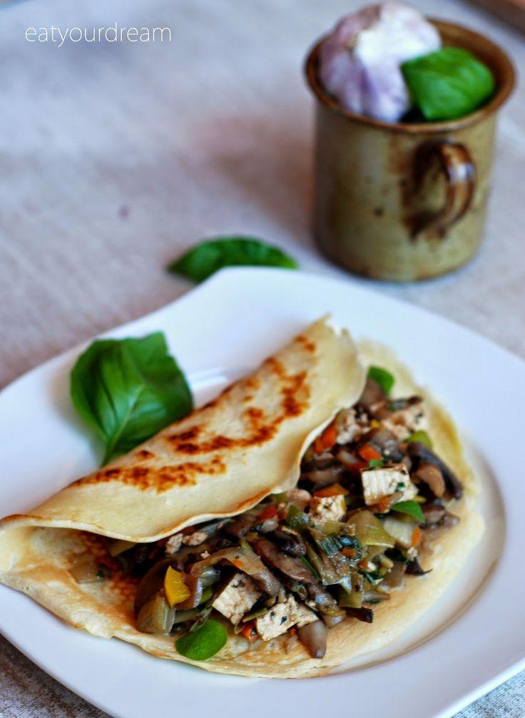 tofu & vegetables pancakes