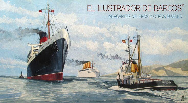 El ilustrador de barcos. | Mercantes, veleros y otros buques.