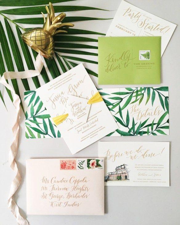 Destination wedding invitation inspiration for a Barbados wedding via http://www.eventjubileecaribbean.com // designed by http://www.coralpheasant.com