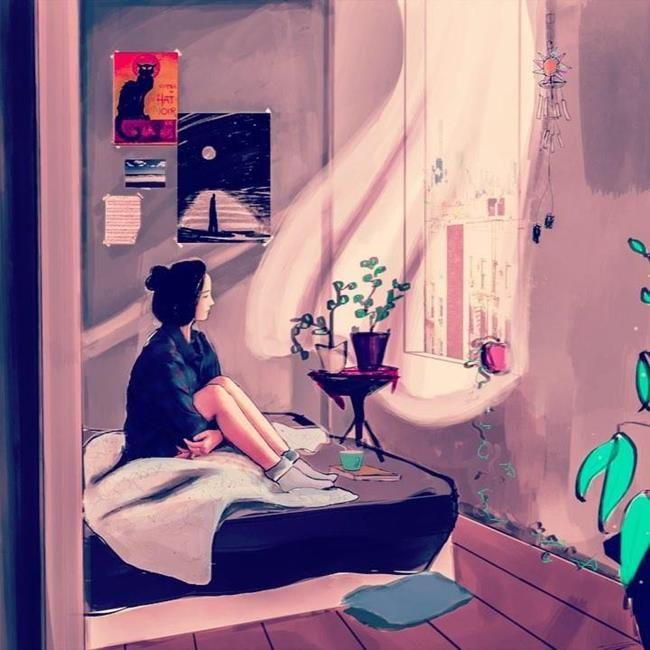 Yağmurun Getirdiği Yalnızlık Hissini Anlatan 15+ İllüstrasyon Sanatlı Bi Blog 13