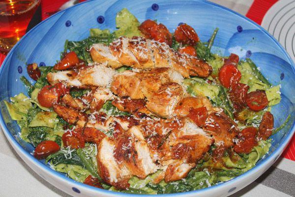 Food | Jamie's Pasta Pesto met Rozemarijn-Knoflook kip