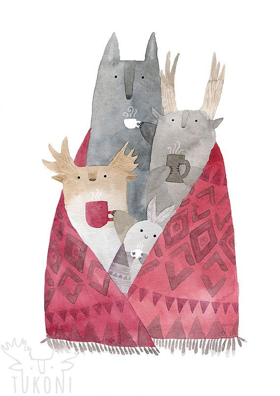 Tukoni y amigos beben té cartel a4/a3 animales guardería Animal grabado acuarela animales vivero arte arte café impresión niños casa acogedora habitación  Este listado es un arte de mi ilustración acuarela Osos estrellados. El gran oso y el osito es buenos amigos.  ▼▼▼d e t a i l s ▼▼▼  Impresión digital de calidad ▲High ▲Matte papel 300 gsm ▲Size▲ por favor, eligió al poner orden desde la ventana de caída en el precio ▼ ▼  ▼A4 - 297 x 210 mm - 11.7 x 8.3 in ▼A3 - 11.69 x 16,53 pulgadas…