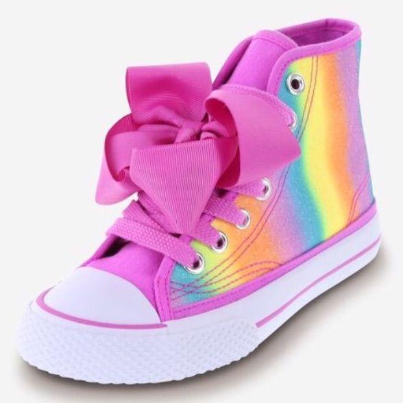 Girls JoJo Siwa Rainbow Pink Bow High
