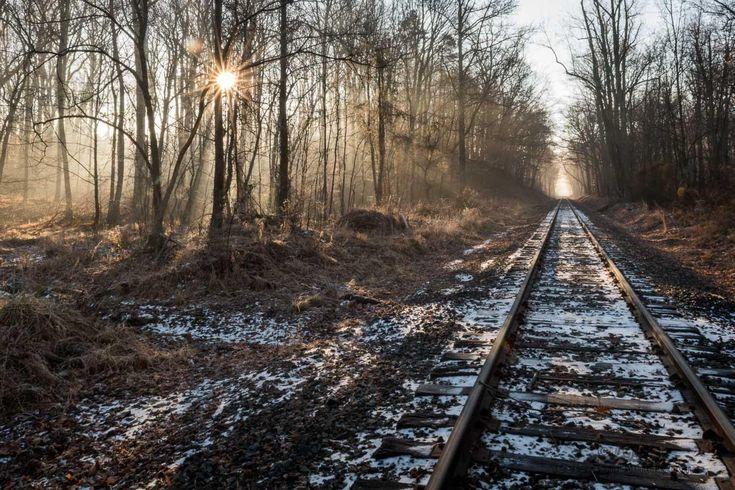 Star burst_ Pennsylvania Railroad Rails, Bowie MD