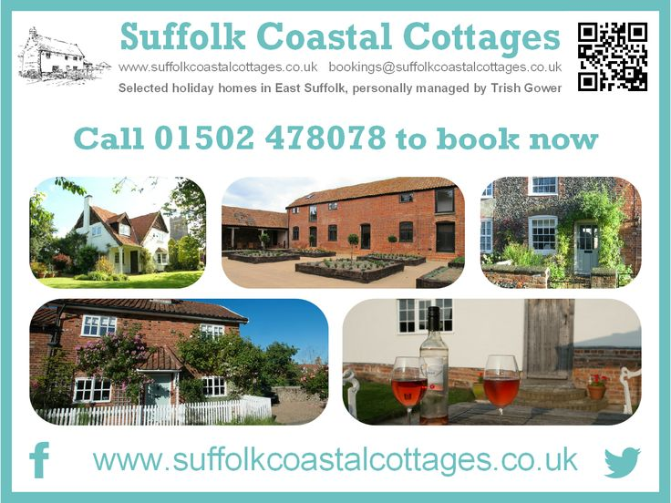 For holiday cottages with the personal touch close to the Suffolk Coast why not book with Suffolk Coastal Cottages? Cosy cottages, larger houses and a barn, all full of character, set in some of Suffolk's loveliest and most unspoilt rural villages, yet within minutes of the stunning Suffolk Heritage Coast.  Take a look at their Late Availability page for last minute bookings of short breaks and weekly lets.