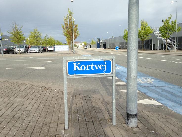 Kortvej - 'short road' or 'map road' in Danish ... I love it!