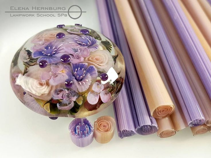 Elena HernburgMurrini & More  15 hrs ·      COE 104    $ 35    Price for one stick of 10 cm .  In stock:  2 purple flowers sticks - diameter 0,6 0,7 cm  5 rose stiks - diameter 0,6 0,7 cm  More pictures in the comments.  Worldwide delivery from Russia 7$.