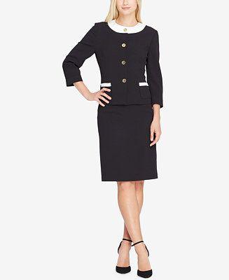 Tahari ASL Button-Front Skirt Suit - Suits & Suit Separates - Women - Macy's