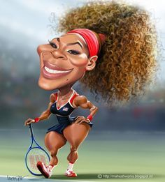 serena williams caricature                                                                                                                                                                                 More