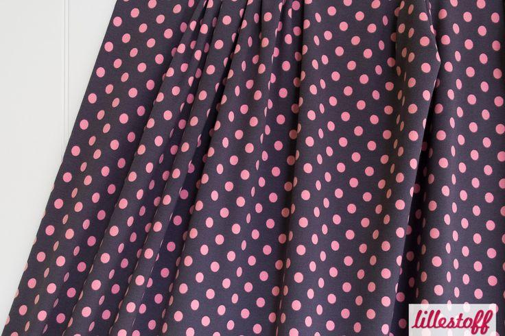 lillestoff » Dotties grau rosa « // ausverkauft