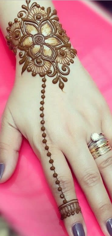 Rate this beauty in your word. Visit for more stunning Hand henna designs...