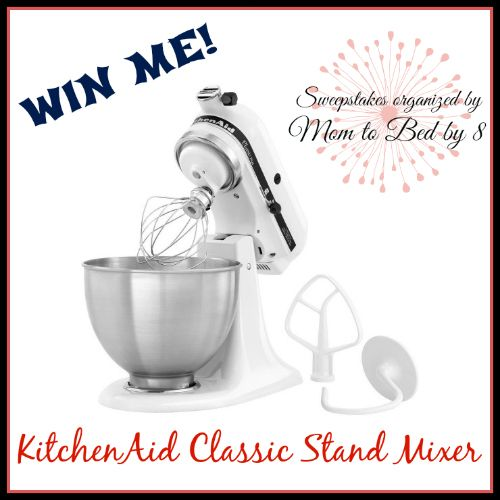 KitchenAid Classic Stand Mixer #Giveaway!  http://www.vivaveltoro.com/2014/01/kitchenaid-classic-stand-mixer-giveaway.html