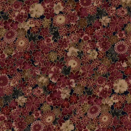 Robert Kaufman Fabrics: HRK-551104L-5 from Hyakkaryouran Sateen