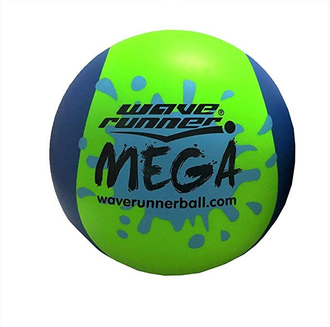 65c49b3518d08 Amazon.com: Wave Runner Mega Ball #1 Water Ball for Skipping and ...