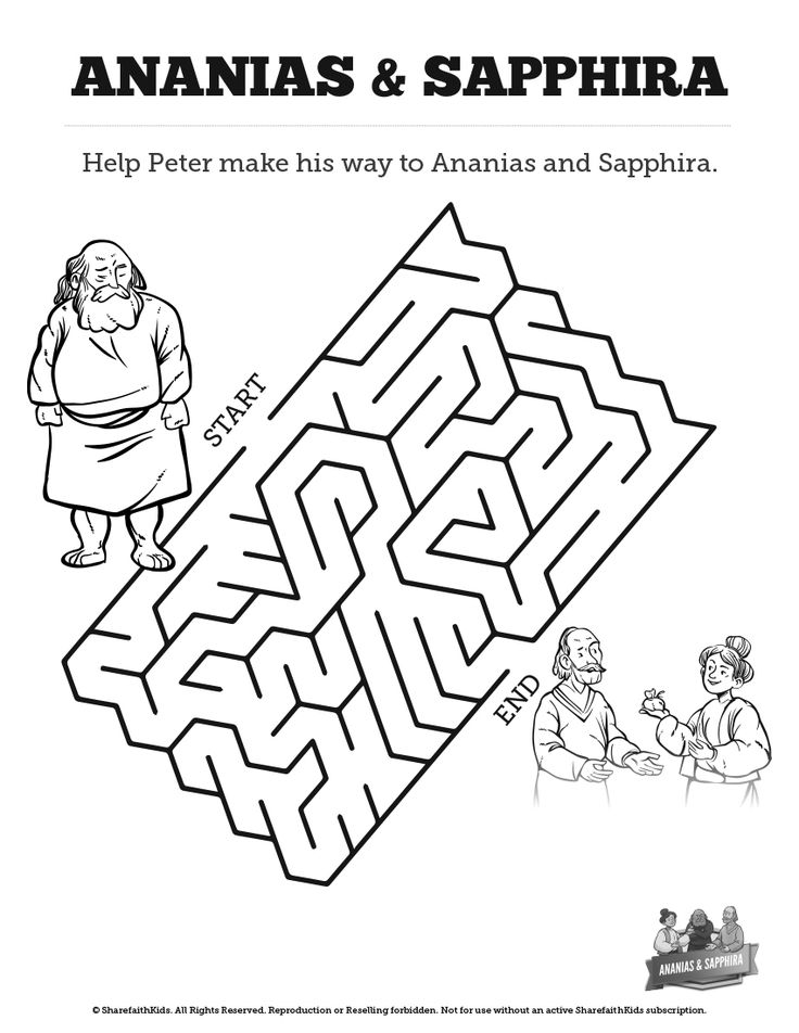 ananias and sapphira coloring pages-#3