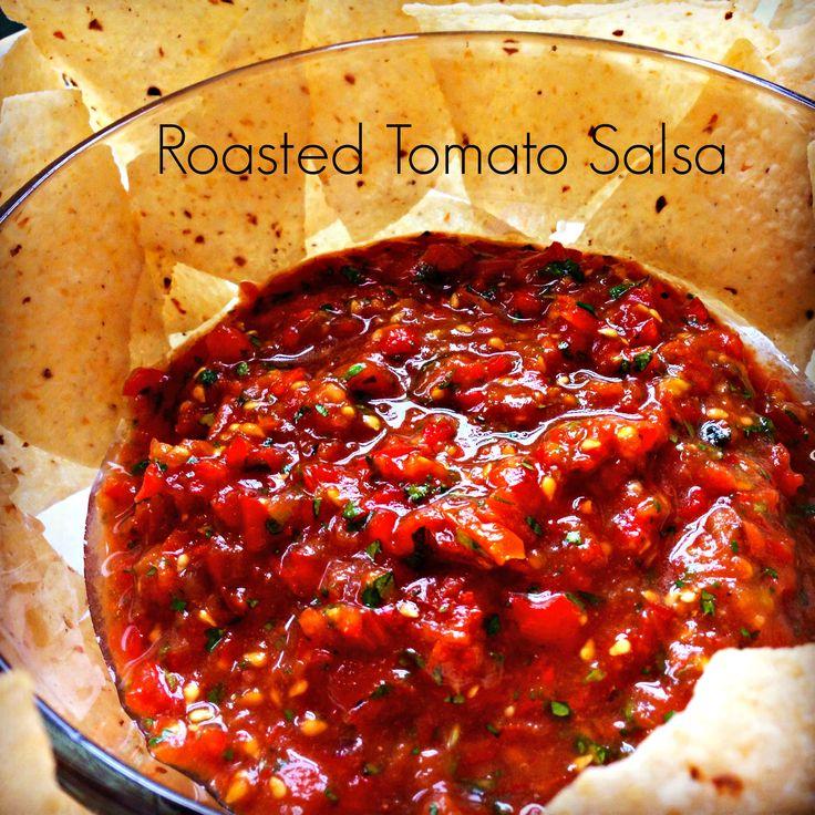 roasted tomato salsa tomato salsa recipe roasted tomatoes homemade ...