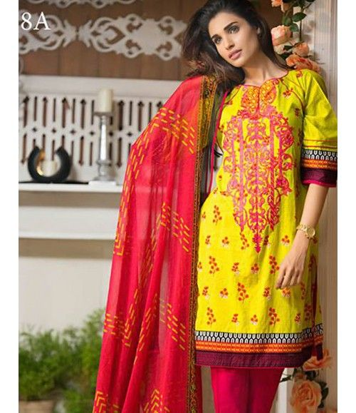 Signature Icon Embroidered Lawn Suit Collection Volume ll SI_8A