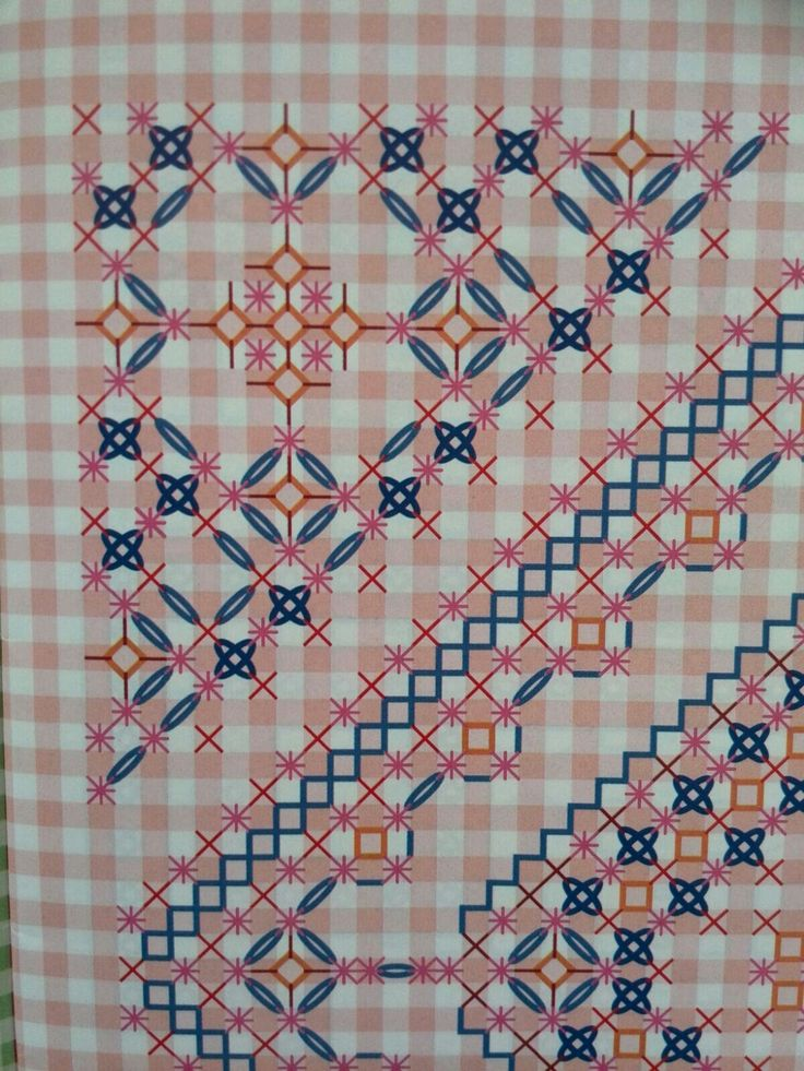 Broderie Suisse, Chicken scratch, Swiss Embroidery, Bordado espanol, Stof veranderen.