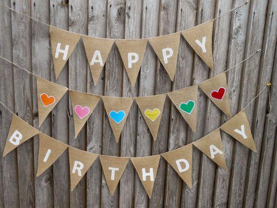 Happy Birthday Banner Happy Birthday Sign 1 st by ViViCreative, $24.00