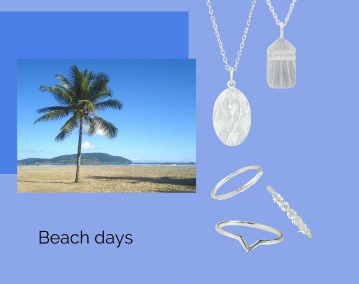 Beach days | #summer #style #jewellery #smykker #fashion #beach #palmtree #hvisk