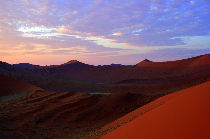Orange velvet.  The oldest dunes in the world.  Namib National Park, #Namibia. #Africa